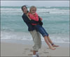 Michelle Mayer with daughter Amelia Stainbach on a beach she loved. (Family Photo)
