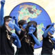 Photo: AP South Korean environmental activists have their faces painted as characters from James Cameron's movie 'Avatar' as they perform during a rally to mark the 40th anniversary of Earth Day in Seoul, South Korea, 22 Apr 2010